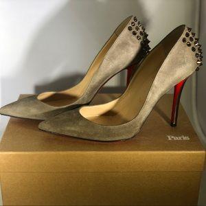 Christian Louboutin Shoes - Christian Louboutin Zappa 100 Suede Pumps